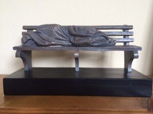 Homeless Jesus by Timothy Schmalz.