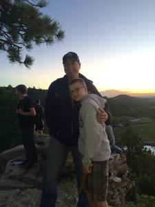 Me and Aadan on a sunrise hike.